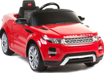 Электромобиль Land Rover Evoque, красный